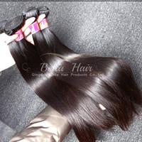3 adet 26 düz perulu saç toptan satış-Bella Hair® 8A 3 adet / grup 100% Perulu Saç İnsan Saç Atkı Yüksek Kaliteli Uzantıları Doğal Renk Ipeksi Düz Julienchina