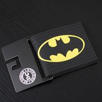 dc geldbörsen großhandel-Comics DC Marvel Sommer Stil Männer Brieftasche PVC Batman Anime Handtasche Handtasche Schwarz Farbe Gentle Man Fashion Kollektion Geschenk Brieftaschen 4,5 zoll