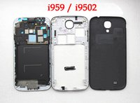 Wholesale Repair Parts Full Housings Cover For Samsung Galaxy s4 i9500 i9502 i9505 Front Frame Middle Bezel Battery Cover with install tool free ship