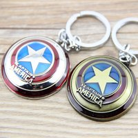 Wholesale Classic Cars Cheap - Wholesale Wholesale Super Hero The Avengers Captain America Shield Metal Keychain Pendant Key Chain Chaveiro Gift For Men Boys Cheap