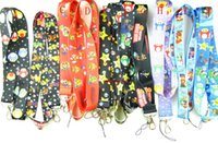 Wholesale Mario Bros Lanyard - Wholesale 100 Pcs Mixed Classic Character Super Mario Bros Lanyards Straps Mobile Phone,ID Card,Key