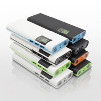 Wholesale Universal Usb External Charger - DCAE High Quality 12000mAh Power bank Triple USB LCD display external battery Portable Universal For iphone Samsung phones charger