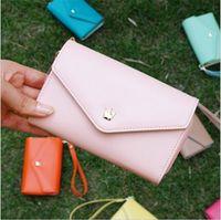 Wholesale korean mobile phone case - Korean envelope wallet PU Leather Flip Crown card Pouch Cover case mobile phone bag handbag for iphone 4s 5s SE 6s plus s3 s4 s5 note 5 s7