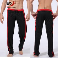 Wholesale Erotic Cloths - Wholesale-Quick-Drying Polyester Men Pants Cloth Trousers Tights Homewear Mens Sexy Erotic Homens Cargo Pants For Men Gym Cotton Pants