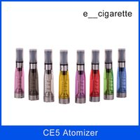 Wholesale wicks for electronic cigarettes - No wick Ce5 atomizer clearomizer Electronic cigarette upgrade CE4 1.6ml No cotton for eGo series e cigarette ego t ego-t atomizers
