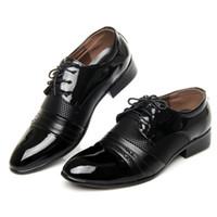 Wholesale Size Heel Wedges - Hot Sale Big Size Men Dress Shoes Flat Shoe Luxury Men's Business Oxfords Casual Shoe Black Brown Leather Derby Shoes Luxurious Oxford