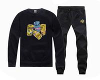 blende les pantalons pour les hommes achat en gros de-4001 Livraison gratuite hip-hop o-cou Casual hoodies Lettre BBC pantalon + Sweat Nouveau Hommes Coton Mélange S-5XL