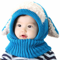 Wholesale Toddler Red Scarf Hat - Best selling Toddler Kids Beanies Hats Coif Hood Kintted Woolen Scarves Caps Winter Warm Cap