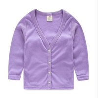 Wholesale Spring and Autumn Sun Protection Boys Coat Baby Children Solid Color Girls Outerwear Cardigan new hight