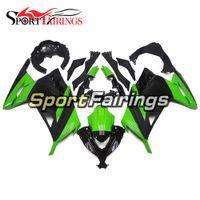 kawasaki ninja kits corps de moto achat en gros de-Kit de carénage plein d'injection noir vert brillant pour Kawasaki Ninja 300 EX300R 2013-2015 13-15 Cowling de kit de corps de motos de plastiques d'ABS