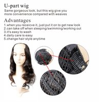 Wholesale Customize Hair Extensions - Body Wave U Part Wig Virgin Human Hair Extensions Within STW,DW,CW,LW Within 7-10 Days Customize