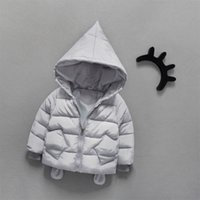 Wholesale Childrens Jackets Coats - Can Custom Boys and girls down cotton childrens jacket winter 1-2-3-year-old baby thick coat baby cartoon cotton coats