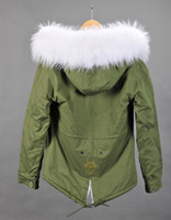 Wholesale Uk Nylon - Mr & Mrs furs winter coats women green jackets Ladies Parkas with Real Raccoon fur UK Japan
