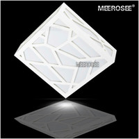 Wholesale Cube Art - Creative LED White Wall Lights Polymer Wood Carving Water Cube Wall Sconces(AC85~265V) Free Shipping