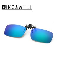 Wholesale Uva Uvb Sunglasses - High Quality 2016 Brand New Men Women Polarized Clip On Sunglasses Sun Glasses Driving Night Vision Lens Unisex Anti-UVA Anti-UVB B102