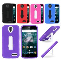 Wholesale Coolpad Cell Phones - For ZTE WARP 7 N9519 For Coolpad catalyst 3623A 3622A Cell Phone Case Heavy Duty With Kickstand Cases Protective Mobile Phone Holder Cover