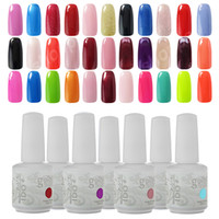 Wholesale Top Coat Nail Polish Wholesale - Any 10 Colors UV Gel IDO Gelish 220 Colours Nail Art Soak Off Gel Nail Polish Base Top Coat Cosmetic Set