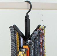 Wholesale silk scarf clips - Rotatable Clothes Rack Leather Belt Coat Hanger Silk Scarf Hangers Home Furnishing Articles Carry Convenient Reusable 6 2ek C R