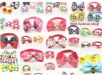 Wholesale Classic Hot Dog - 200pc lot 2016 Hot Sale butterfly pet cat puppy dog bow tie Grooming Bowknot Pet Accessories PE17