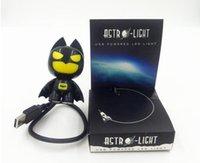Wholesale Cool Led Desktop Light - Free shipping USB Portable Laptop LED Superhero cool Batman Night Light Lamp Emergency Table PC Computer Notebook Desktop