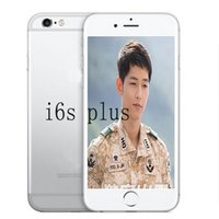 Wholesale Dual Model Wifi Cell Phone - Unlocked Goophone i6s Plus 1:1 5.5 inch Dual Core MTK6572 Android 4.4 2G call Show 4G lte cell Phones sealed box have goophone s7 s7 edge
