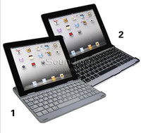 Wholesale Clip Ipad Covers - iPad 4 Ultra Aluminum PC Wireless Bluetooth Keyboard Case With Clip and Go Design Cover For Ipad 2 3 4 With Retail Box