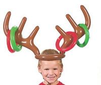 aufblasbare pvc spielwaren für kinder großhandel-Weihnachten Nette Hirschkopf Form Ferrule Spiel Werkzeuge Für Kinder Aufblasbare Spielzeug Luftballons Party Geburtstag Dekoration Outdoor Spiel Spielzeug E1708