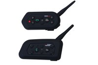 El más nuevo 2pcs / set E6 casco intercomunicador 6 conductores 1300M de la motocicleta Bluetooth 3.0 Intercom Headset Walkie Talkie casco BT Interphone