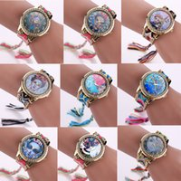 Wholesale Round Braiding - 16 Styles 14Colors Luxury Lady Frida kahlo Watch Fashion Hand-made Braided Quartz Wristwatch Women Bracelet Watches Free Shipping