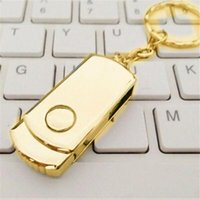 Wholesale 128gb flash drive metal - Gold Silver Metal 64GB 128GB 256GB USB 2.0 Flash Drive Memory for Android ISO Smartphones Tablets PenDrives U Disk