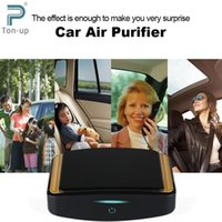 Wholesale 12V Auto Car Vehicle Fresh Air Cleaner Purifier Oxygen Bar Portable Mini Intelligent Hepa Filter Ionizer Freshener Black