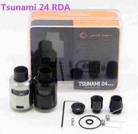 elektronisch 24 großhandel-Neue Ankunft Tsunami 24 RDA Glasscheiben-Zerstäuber mit einstellbarem Luftstrom Verschiedene Tropfspitze Elektronische Zigaretten