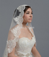 White Ivory Lace Short Wedding Veils One Layer Bridal Veils Wedding Accessories High Quality New Arrival