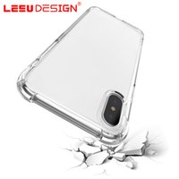 Wholesale Cushion Speakers - LEEU DESIGN air cushion shockproof gel tpu sound switching speaker transparent phone case anti shock cover for iphone x 6 7 8 plus s8 R11