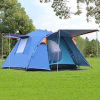 Wholesale Outdoor Family Activities - Auto Open Camping Tent 3-4 People Waterproof Light Weight Portable Camp Tents For Family Outdoor Activities Picnic Camping Traveling