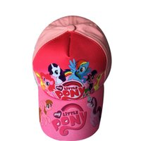 Wholesale Hiphop Winter - New Kids Cartoon back Hat Caps Pony Children's Baseball Cap Casual Hiphop Hats Pink Color free shipping