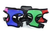 Wholesale Cat Walking Vest Harness - Pet Harness for Dog & Cat Soft Mesh Walk Collar Safety Strap Vest 5 sizes 5 colors wen4257