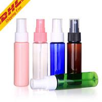 Wholesale Mini Sprayer Bottle - DHL FREE 30ml Random Color Travel Transparent Plastic Perfume Atomizer Small Mini Empty Spray Refillable Bottle for skin care items