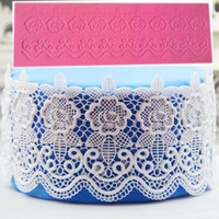 Wholesale Silicone Lace Mats - Silicone Lace Mats Mold Cake Mould Sugar Craft Fondant Mat Cake Decorating Baking Tool Rose Flower Lace Mold