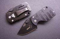 Wholesale pigging knife - Boker Plus Subcom F QQ PIG Small Pocket Folding Knife 420C 54HRC G10 Titanium Tactical Camping Hunting Survival Knife Gift Utility EDC Tools