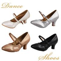 Wholesale Latin Dance Shoes Brands - 5003new brand Ballroom tango latin dance shoes girls women's latin dance shoes 5cm and 7cm heel,four colors