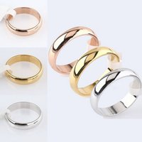 Wholesale Polish Rose Ring - Wholesale- Latest Fashion Fortunately Rose Gold Women Men Polished Stainless Steel Ring Convention Jewelry Wedding Band Ring Valentine Gift