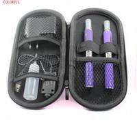 Wholesale Mt3 Battery Set - Electronic Cigarette Starter Kits EGO-T Battery With MT3 Atomizers  Zipper Case USB Charger Needle Bottle E-cig EGO Starter Set ego DHL free