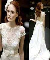Wholesale Cheap Dresses Online Free Shipping - Wedding Lace Dress Illusion Bodice Backless Bridal Wear Plus Size Vestidos de Novia Pregnant Wedding Dresses Online Cheap Free Shipping