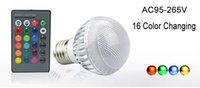 Wholesale Color Changing Led Modules Wholesale - New IC Module 16 Color Changing 9W Globe Ball Bulb RGB LED Lights Lamp E27 B22 With Remote Control