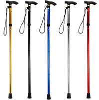 Wholesale outdoor walking hiking trekking stick - Ultra-light 4-section Aluminum Alloy Adjustable Canes Outdoor Camping Hiking Walking Sticks Free Shipping