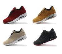 zapatillas sneakers venda por atacado-Botas de couro de camurça 90 VT Sapatilhas Dos Homens de Inverno Sapatos Homem Sneakerboots Sapatos de Caminhada Casuais Zapatillas 7 Cores Tamanho 40-45