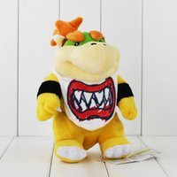 Wholesale Super Mario Figure Bowser Jr - New Arrival Super Mario Bowser Koopa JR Stuffed Plush Doll Soft Baby Toy 21cm Christmas Gift For Children