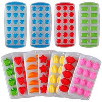 Cute Silicone Chocolate Mold Maker Ice Cube Tray Freeze Mold Bar Pudim Geléia # 84002