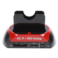 """Wholesale Hdd Adaptor - High Speed SATA IDE HDD Dock Station for 2.5"""" 3.5"""" IDE SATA Hard Disk with 3.5A Power Adaptor Power Cable USB Cable US Plug #WLX-875"""